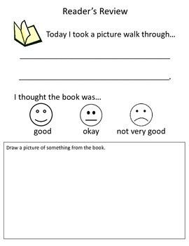 Reader's Review Literacy Center preK -K