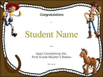 Readers Rodeo Certificate
