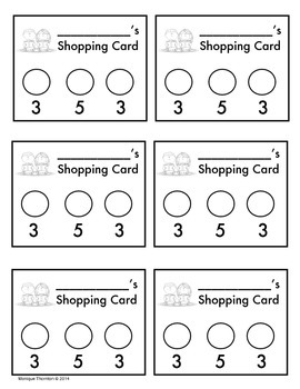 Readers' Shopping Card (Classroom Library Card)
