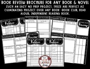 Book Review Brochure & Book Report Template