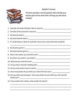 Reader's Survey