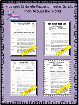 Reader's Theater: 4 Cultural Cinderella Stories (differentiated reading levels)