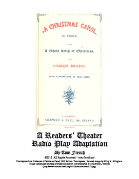 Readers' Theater Radio Play Adaptation of A Christmas Carol