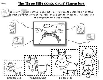 Readers Theater And Retelling - Three Billy Goats Gruff {K/1}