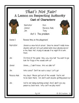 Reader's Theater: Behavior & Back to School! (differentiated reading levels)