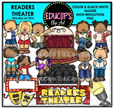 Readers Theater Clip Art Bundle {Educlips Clipart}