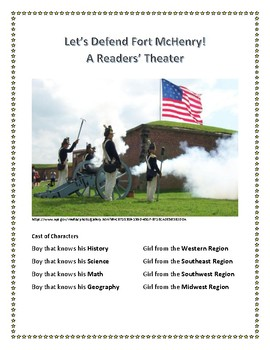 Readers' Theater - Defending Fort McHenry - National Anthem - with Assessment