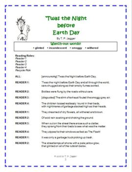 Readers' Theater - Earth Day Readers' Theater Script -The Night before Earth Day