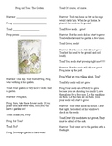 Readers Theater Frog and Toad The Garden