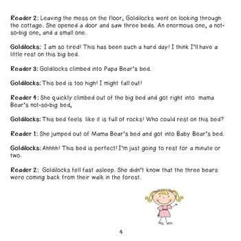Reader's Theater: Goldilocks and the Three Bears (with an alternate ending!)