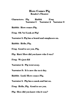 Reader's Theater - Here Comes Pig