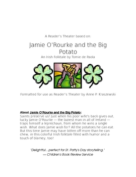 "Reader's Theater:  ""Jamie O'Rourke and the Big Potato"" by Tomie de Paola"