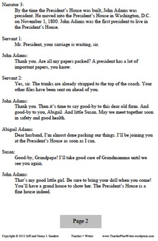 Readers Theater: John and Abigail Adams Move into the White House