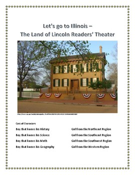 Readers' Theater - Land of Lincoln Illinois Script plus vocab and assessment
