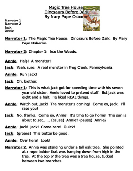 Readers Theater- Magic Tree House: Dinosaurs Before Dark