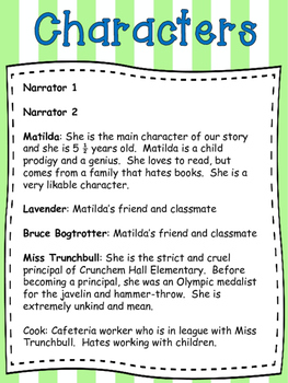 Reader's Theater: Matilda Chapter 11
