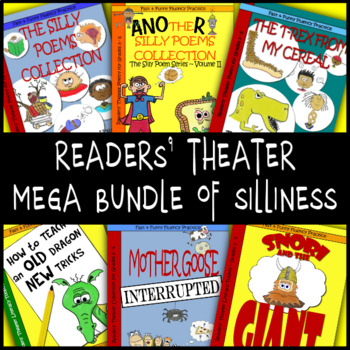 Readers' Theater Mega Bundle of Silliness-Scripts, Poems & Literacy Activities