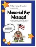 Reader's Theater: Memorial Day Message (leveled play for 3rd, 4th, 5th grade)