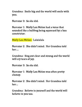 Readers Theater- Molly Lou Melon