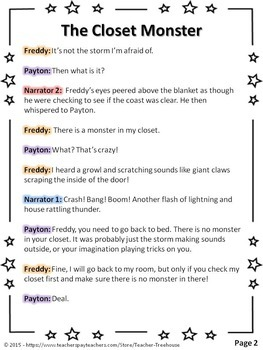 Reader's Theater - Great for Halloween (4 Fun Parts!) - Roles are Highlighted