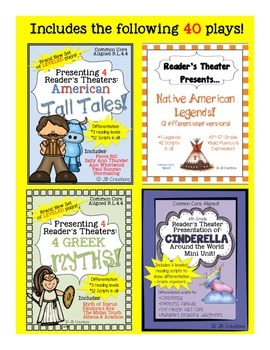 Reader's Theater BUNDLE:  40 Myths, Legends, & Tall Tales!