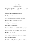 Reader's Theater - New Pets