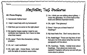 Reader's Theater: Nonfiction Text Features
