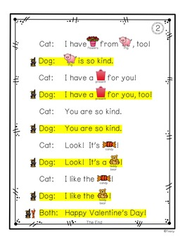 Reader's Theater -  A Partner Play for Beginning Readers {Valentine Freebie}