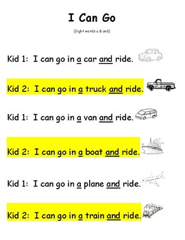 Readers' Theater Sight Word Partner Scripts and Fluency Builders Volume 1