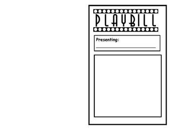 readers theater playbill template by lisa steele tpt