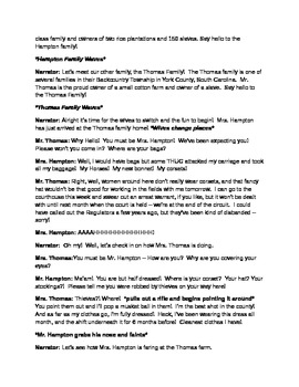 Reader's Theater Pre American Revolution Historical Wife Swap by K Hagy