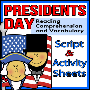 Presidents Day Readers Theater Script, Reading & Activity Packet