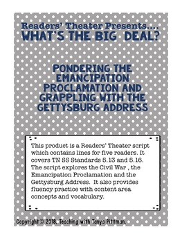 Readers' Theater Proudly Presents - What's the Big Deal?