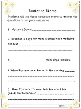 """Reader's Theater Script, """"Mother's Day"""" Read And Write"""