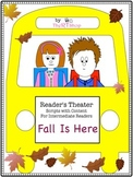 """Reader's Theater Script: """"Fall Is Here"""" , Autumn, Reading Activity/Center"""