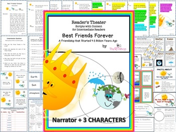 Readers' Theater Script: Reading-Science, Sun, Moon, Earth, Lots Of Activities