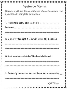 Reader's Theater Script: Reading-Science Center, Butterflies And Bees