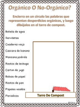 Spanish Reader's Theater Script, Research, Activities & Craft (Lombrices)