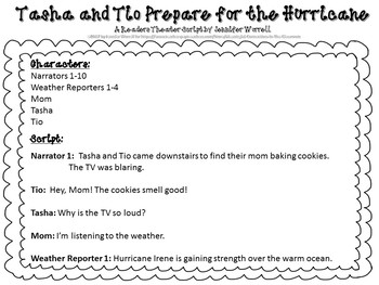 Readers Theater Script: Tasha and Tio Prepare for the Hurricane