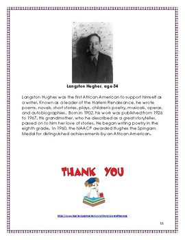 Readers' Theater Script:  Thank You, Ma'am by Langston Hughes