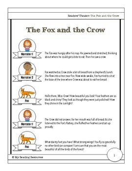 fable fox and the crow