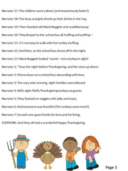 Reader's Theater Script: 'Twas the Night Before Thanksgiving