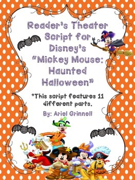 """Reader's Theater Script for Disney's """"Mickey Mouse: Haunted Halloween"""""""