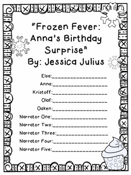 """Reader's Theater Script for """"Frozen Fever"""" by Jessica Julius"""