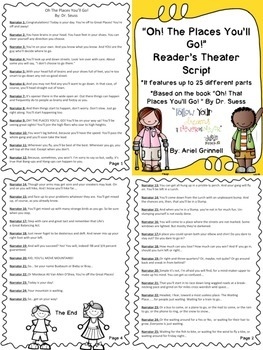 "Reader's Theater Script for ""Oh, The Places You'll Go!"" by Dr. Seuss"