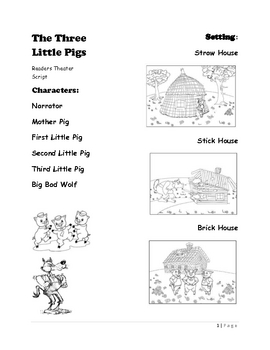 Readers Theater Script of The Three Little Pigs - 1st Grade by ...
