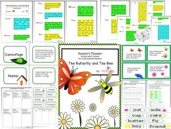 Reader's Theater Script, Science/Literacy Activities, Games, Butterflies & Bees