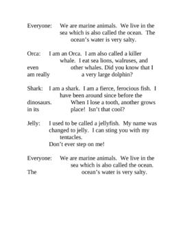Reader's Theater Sea Life