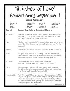 Reader's Theater:  September 11th Stitches of Love (intermediate grades)