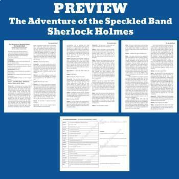 "Sherlock Holmes ""The  Adventure of the Speckled Band""- Readers Theater - One-Act"